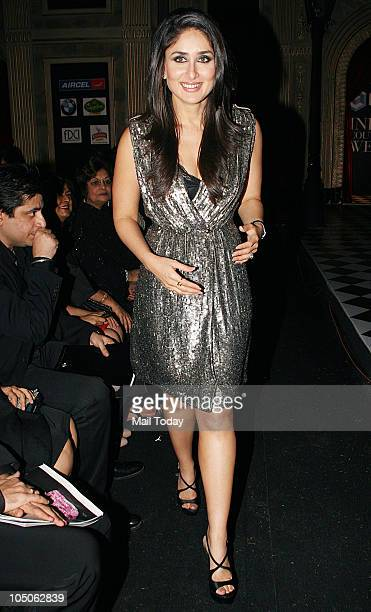Kareena Kapoor at Day II of the HDIL Couture fashion week in Mumbai on October 7 2010