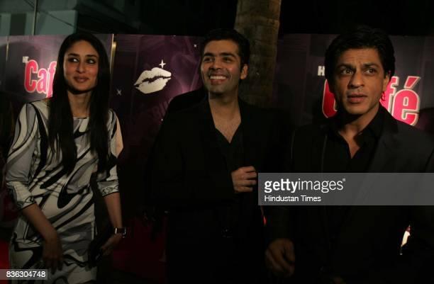 Kareena Kapoor Karan Johar and Shahrukh Khan at HT Cafe Awards