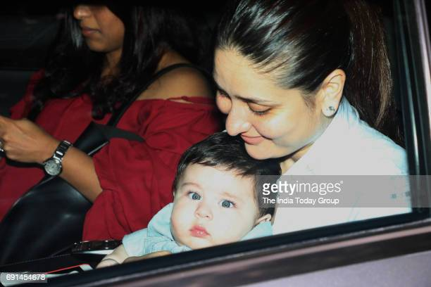Kareena Kapoor Khan with her son Taimur at Tusshar Kapoor's son Laksshya's first birthday bash in Mumbai