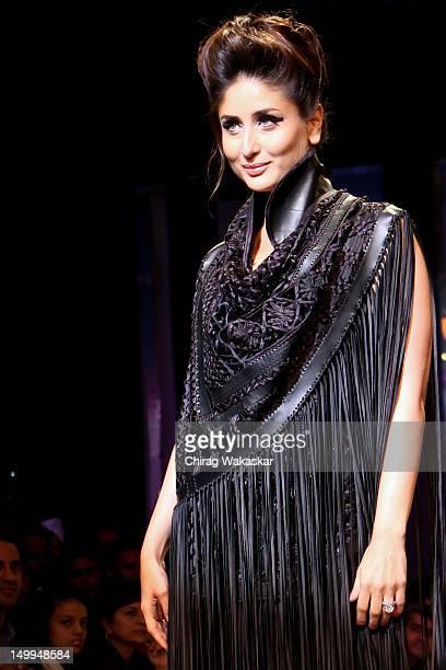 Kareena Kapoor walks the runway at the Pankaj Nidhi Ahuja show at The Grand Finale of The Lakme Fashion Week Winter/Festive 2012 day 5 at the Grand...
