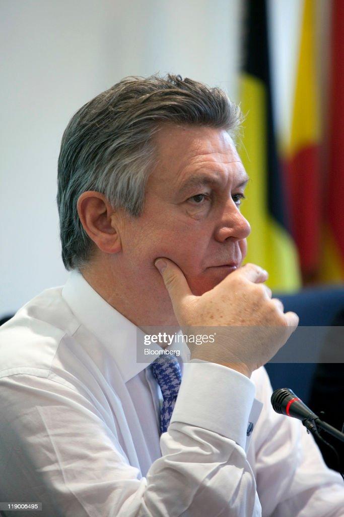 Karel De Gucht, EU Trade Commissioner, Holds A News Conference
