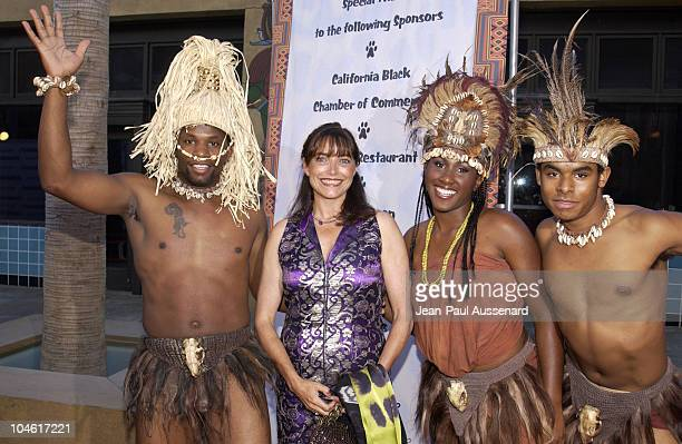 Karen Allen and dancers during 'Shaka Zulu The Citadel' Screening at The Egyptian Theatre in Hollywood California United States