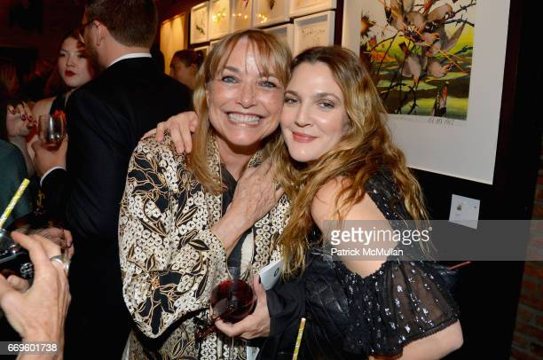 Karen Allen and Drew Barrymore attend The Turtle Conservancy's 4th Annual Turtle Ball at The Bowery Hotel on April 17 2017 in New York City