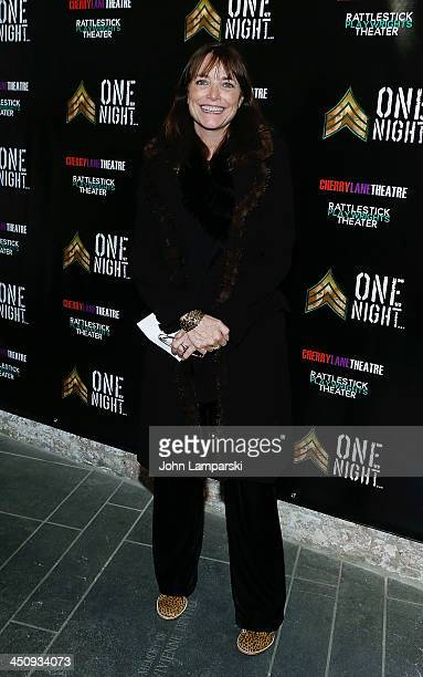 Karen Allen attend the 'One Night' Opening Night at Cherry Lane Theatre on November 20 2013 in New York City