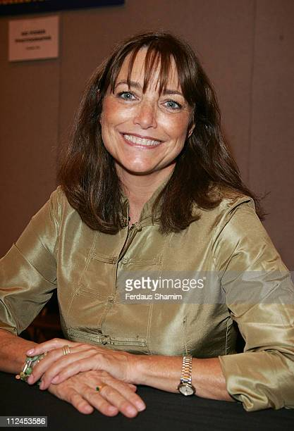 Karen Allen attends the London Film and Comic Convention at Earls Court on July 19 2008 in London England