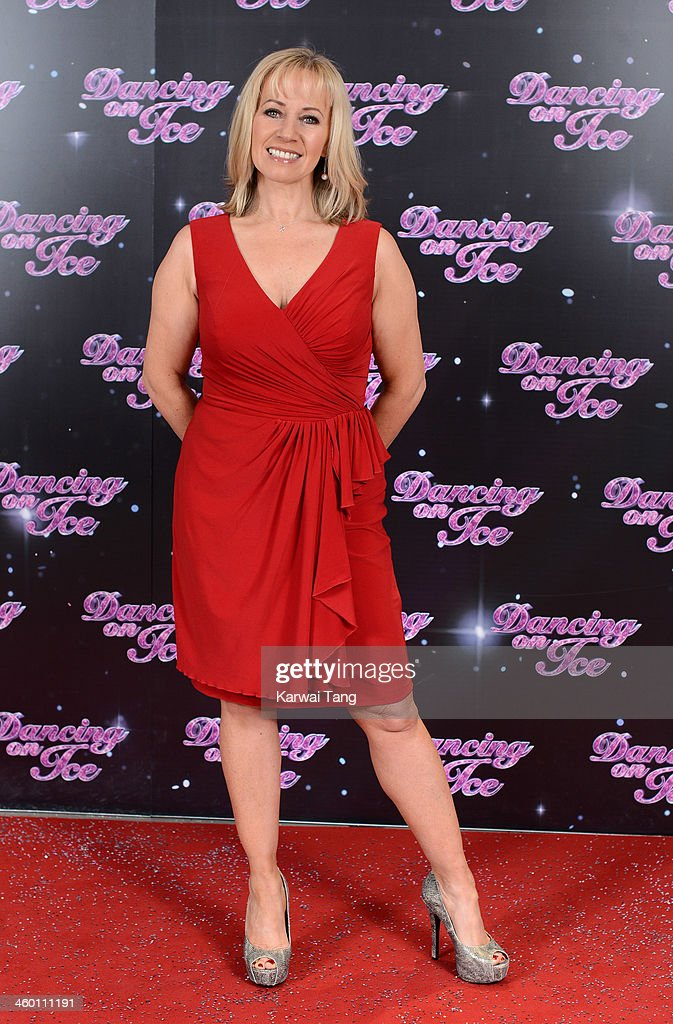 Karen Barber attends the series launch photocall for 'Dancing on Ice' held at the London Studios on January 2, 2014 in London, England.