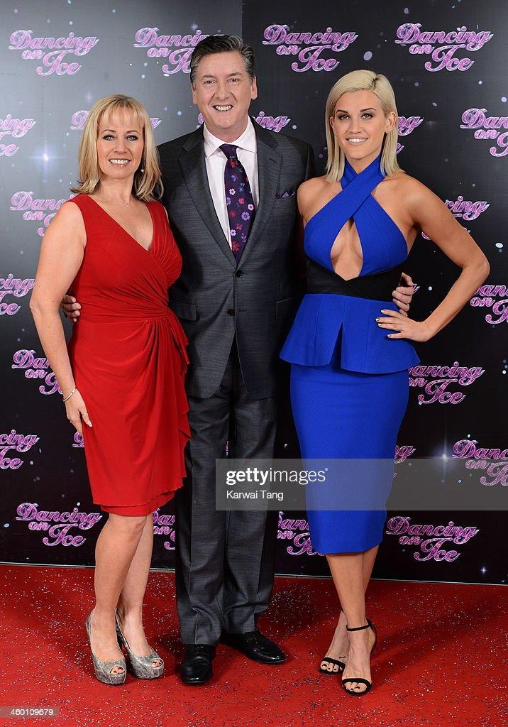 Karen Barber, Robin Cousins and Ashley Roberts attend the series launch photocall for 'Dancing on Ice' held at the London Studios on January 2, 2014 in London, England.