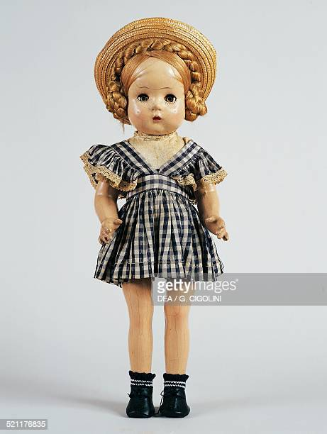 Karen bisque doll with straw hat and gingham dress made by Madame Alexander United States of America 20th century United States