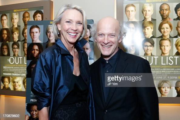 Karen Bjornson and Timothy GreenfieldSanders attend 'The Out List' New York Premiere on June 18 2013 in New York United States