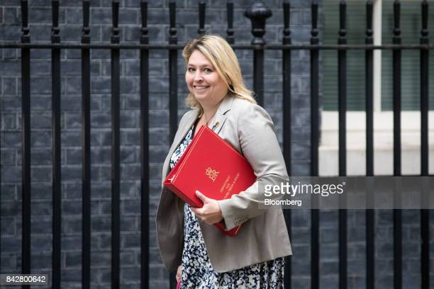 Karen Bradley UK culture secretary arrives for a weekly meeting of cabinet ministers at number 10 Downing Street in London UK on Tuesday Sept 5 2017...