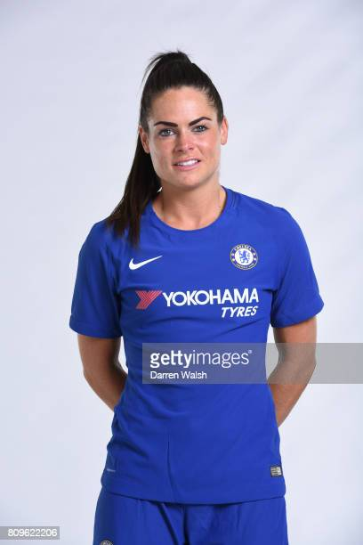 Karen Carney of Chelsea Ladies during the Chelsea Ladies Nike Kit Shoot at Chelsea Training Ground on June 30 2017 in Cobham England
