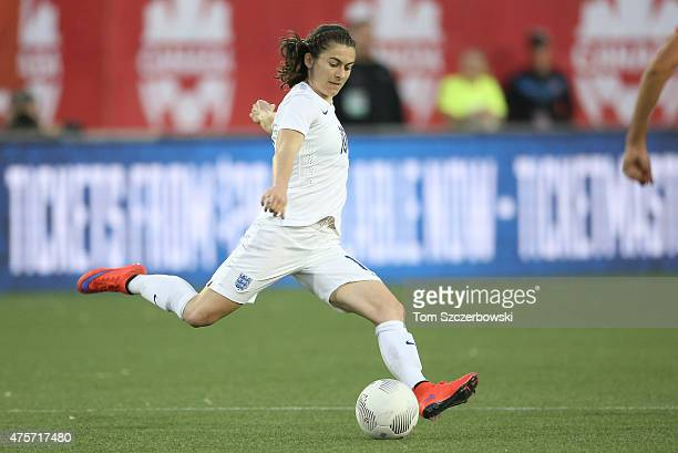 Karen Carney of England advances the ball against Canada during their Women's International Friendly match on May 29 2015 at Tim Hortons Field in...