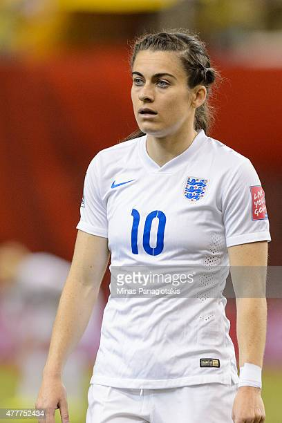 Karen Carney of England looks on during the 2015 FIFA Women's World Cup Group F match against Colombia at Olympic Stadium on June 17 2015 in Montreal...