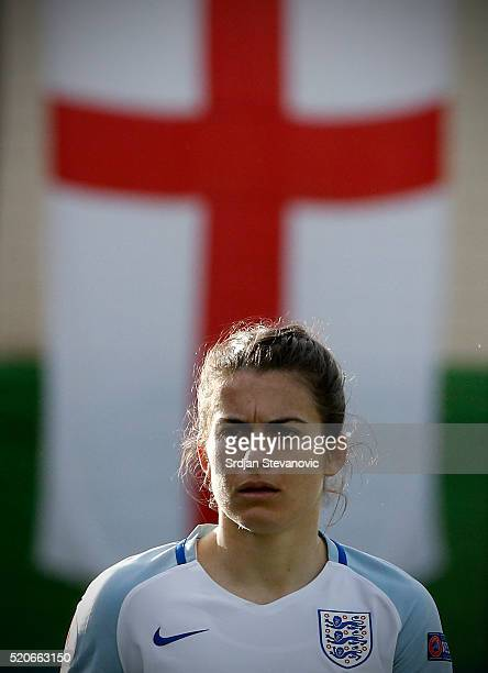 Karen Carney of England looks on during the UEFA Women's European Championship Qualifier match between Bosnia and Herzegovina and England at FF BIH...
