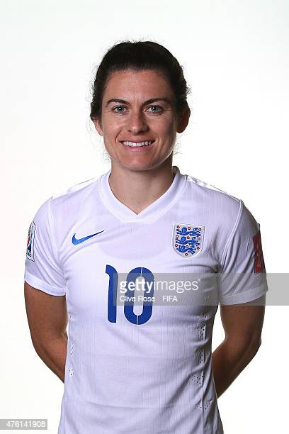 Karen Carney of England poses during a FIFA Women's World Cup portrait session on June 6 2015 in Moncton Canada