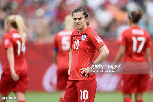 Karen Carney of England reacts during the FIFA Women's World Cup Canada 2015 Third Place Playoff match between Germany and England at Commonwealth...