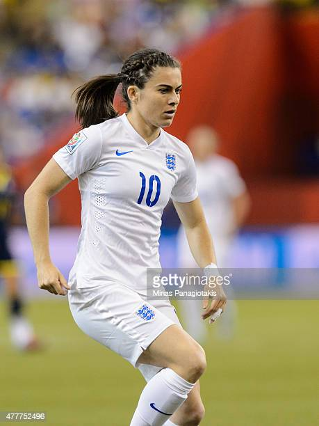 Karen Carney of England runs during the 2015 FIFA Women's World Cup Group F match against Colombia at Olympic Stadium on June 17 2015 in Montreal...