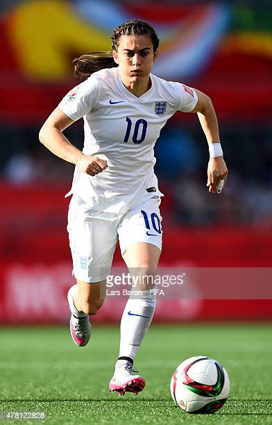 Karen Carney of England runs with the ball during the FIFA Women's World Cup 2015 Round of 16 match between Norway and England at Lansdowne Stadium...