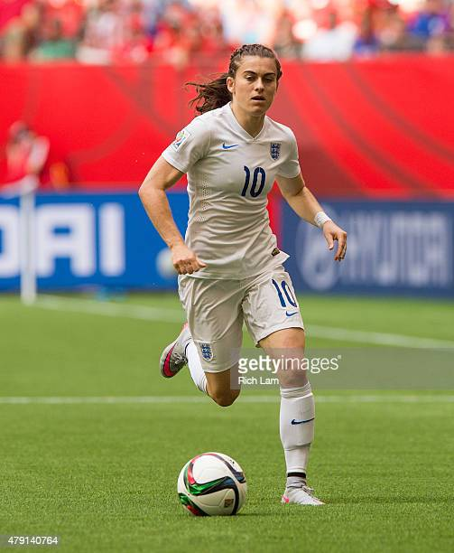 Karen Carney of England runs with the ball during the FIFA Women's World Cup Canada 2015 Quarter Final match between the England and Canada June 2015...