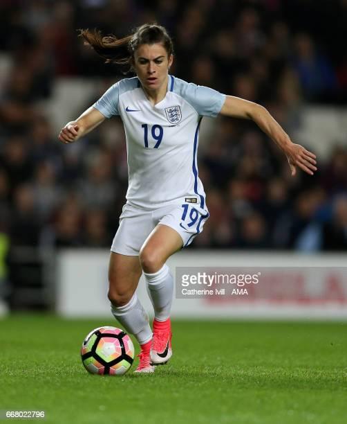 Karen Carney of England Women during the Women's International Friendly match between England and Austria at Stadium mk on April 10 2017 in Milton...