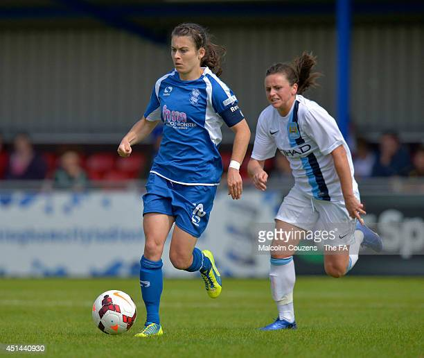 Karen Carney on the attack for Birmingham City during the FA WSL game between Birmingham City Ladies and Manchester City Women at Solihull Moors...