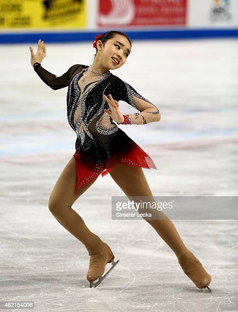 Karen Chen competes in the Championship Ladies Free Skate Program Competition during day 3 of the 2015 Prudential US Figure Skating Championships at...