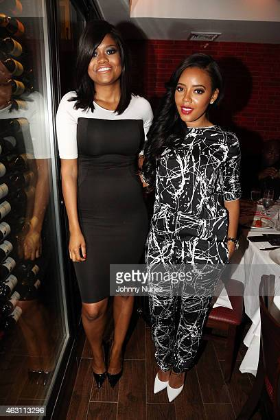 Karen Civil and Angela Simmons attend 'Da Sweet Blood Of Jesus' dinner reception at Red Stixs on February 9 in New York City