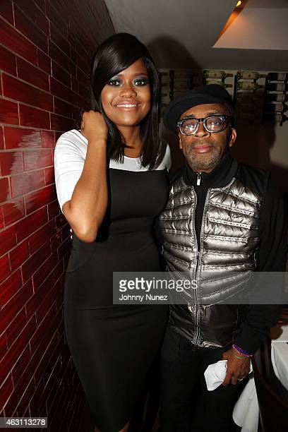 Karen Civil and Spike Lee attend 'Da Sweet Blood Of Jesus' dinner reception at Red Stixs on February 9 in New York City