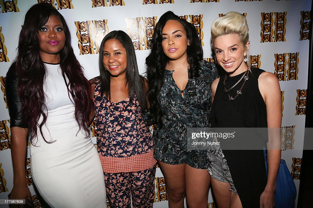 Karen Civil, <a gi-track='captionPersonalityLinkClicked' href=/galleries/search?phrase=Angela+Yee&family=editorial&specificpeople=4443054 ng-click='$event.stopPropagation()'>Angela Yee</a>, Lore'l and Lauriana Mae attend 2 Chainz Album Listening Event at DL on August 22, 2013 in New York City.