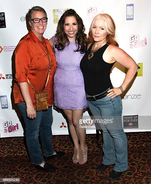 Karen Creitz actress/Liv Out Loud creator Ashley Gianni and Dorian Newberry pose for portrait at Premiere Party For 'Liv Out Loud' at Akbar on...