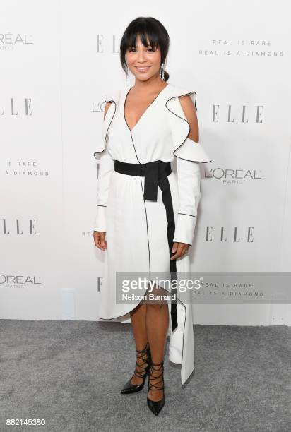 Karen David attends ELLE's 24th Annual Women in Hollywood Celebration presented by L'Oreal Paris Real Is Rare Real Is A Diamond and CALVIN KLEIN at...