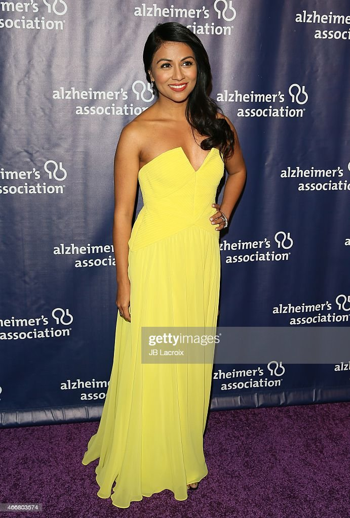 Karen David attends the 23rd Annual 'A Night At Sardi's' To Benefit The Alzheimer's Association at The Beverly Hilton Hotel on March 18, 2015 in Beverly Hills, California.