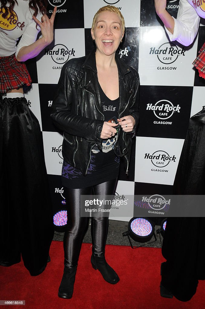 Karen Dunbar is a guest of the Hard Rock Cafe's 'The Scottish Music Weekend' event at Hard Rock Cafe on February 2, 2014 in Glasgow, Scotland.