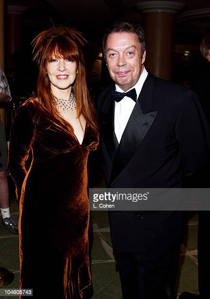 Karen Dusenbery and Tim Curry during The 44th Annual GRAMMY Awards Clive Davis PreGRAMMY Party at Beverly Hills Hotel in Beverly Hills California...