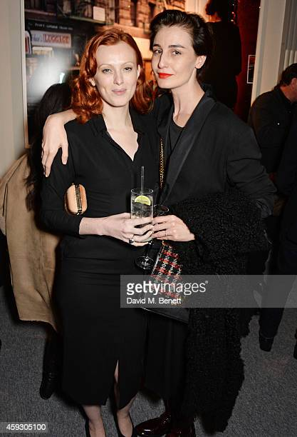 Karen Elson and Erin O'Connor attend the book launch and private view of 'Mary McCartney Monochrome And Colour' curated by De Pury De Pury on...