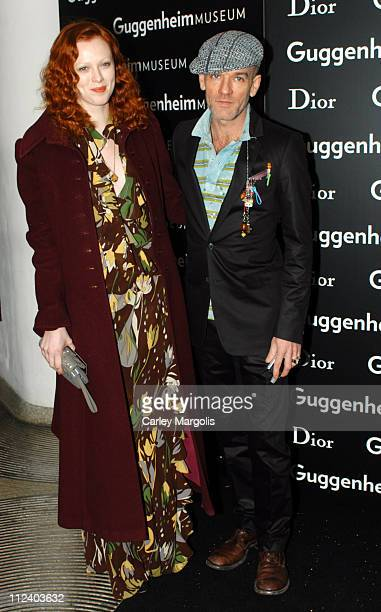 Karen Elson and Michael Stipe during Dior Sponsors the Solomon R Guggenheim Museum's Young Collectors Council Artist's Ball Honoring Matthew Ritchie...