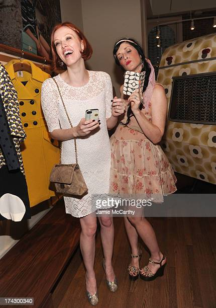 Karen Elson and Sarah Sophie Flicker attend the Orla Kiely for Target Preview Party on July 23 2013 in New York City