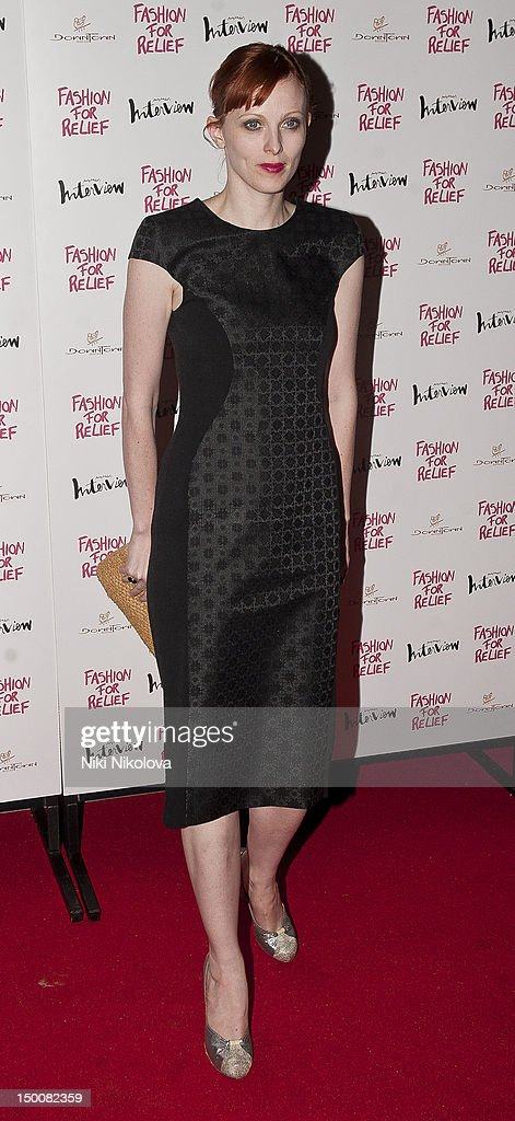 Karen Elson arrives at Naomi Campbell's Olympic Celebration Dinner on August 9, 2012 in London, England.