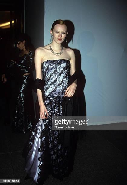 Karen Elson at Louis Vitton Tower opening New York December 8 1999