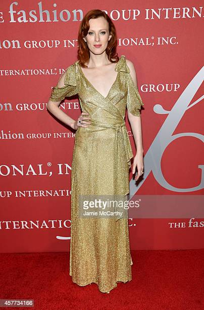 Karen Elson attends the 31st Annual FGI Night of Stars event at Cipriani Wall Street on October 23 2014 in New York City
