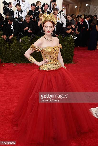 Karen Elson attends the 'China Through The Looking Glass' Costume Institute Benefit Gala at the Metropolitan Museum of Art on May 4 2015 in New York...