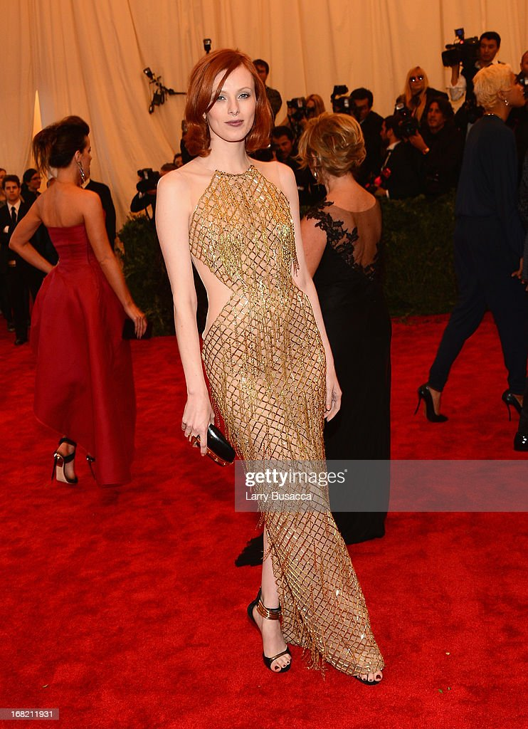 Karen Elson attends the Costume Institute Gala for the 'PUNK: Chaos to Couture' exhibition at the Metropolitan Museum of Art on May 6, 2013 in New York City.