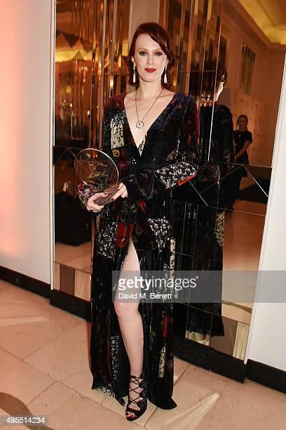Karen Elson attends the Harper's Bazaar Women of the Year Awards 2015 at Claridges Hotel on November 3 2015 in London England