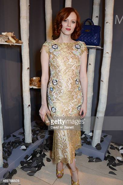 Karen Elson attends the Mulberry dinner to celebrate the launch of the Cara Delevingne Collection at Claridge's Hotel on February 16 2014 in London...