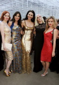 Karen Elson Daisy Lowe L'Wren Scott Portia Freeman and Georgia May Jagger attend the annual Serpentine Gallery Summer Party cohosted by L'Wren Scott...