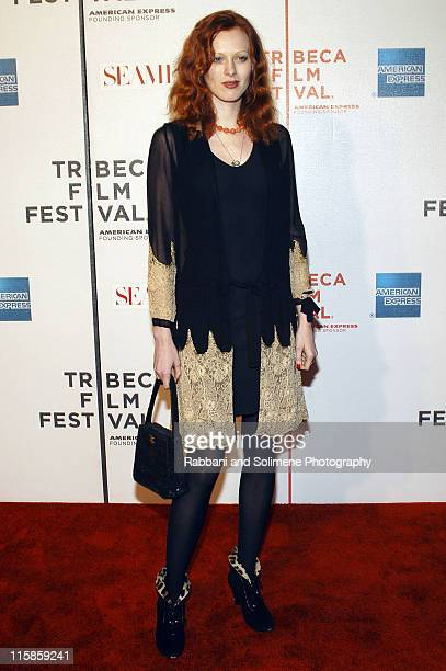 Karen Elson during 4th Annual Tribeca Film Festival 'Seamless' Premiere at Tribeca Performing Arts Center/BMCC in New York New York United States