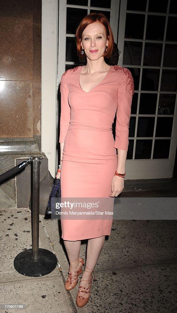 Karen Elson is seen on June 19, 2013 in New York City.