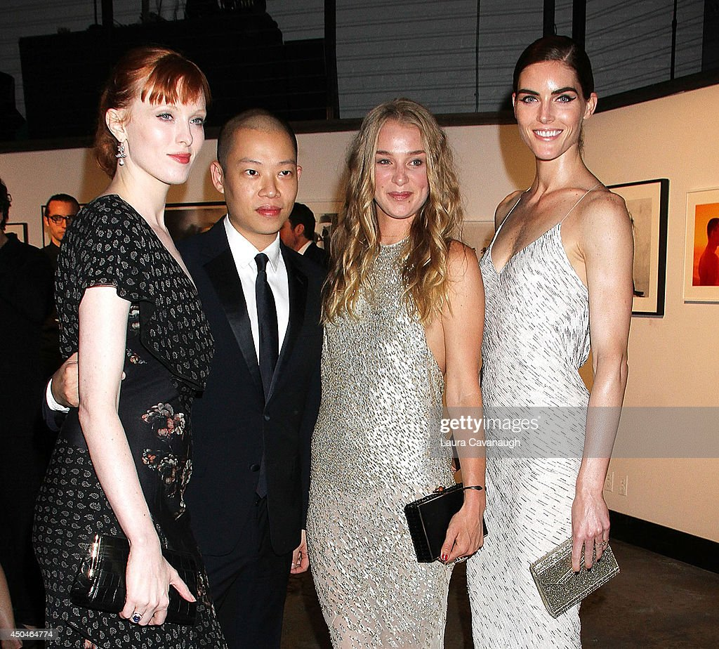 Karen Elson, Jason Wu, Elizabeth Gilpin and Hilary Rhoda attend the 2014 Young Friends Of ACRIA Summer Soiree at Highline Stages on June 11, 2014 in New York City.