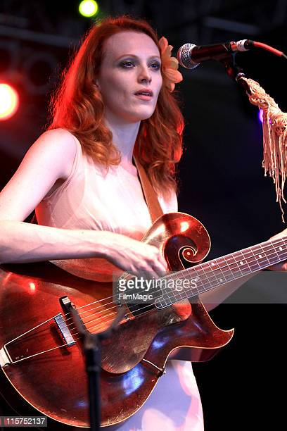 Karen Elson performs on stage during Bonnaroo 2011 at The Other Tent on June 9 2011 in Manchester Tennessee