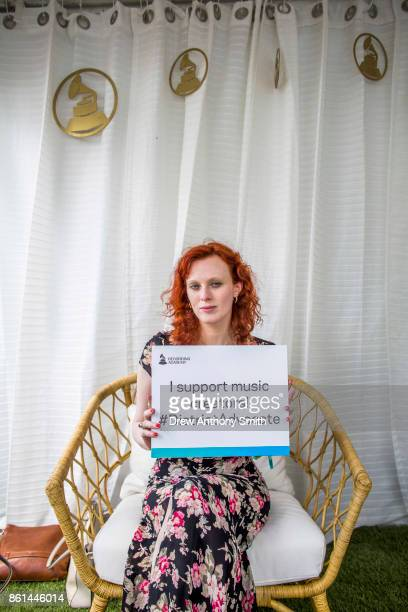 Karen Elson poses for a portrait during day two of the Austin City Limits Music Festival on October 14 2017 in Austin Texas